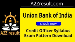 Union Bank of India Credit Officer Syllabus